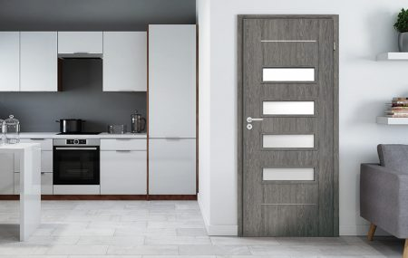 A perfect trio, or doors, floors and kitchens ideally matched