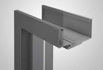 Adjustable steel non-rebated door frame